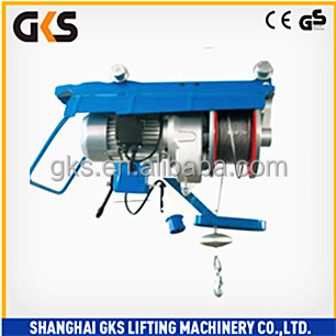GS CE ISO Certification 300KG 400KG 500KG HSG hand pushing wire rope electric Hoist