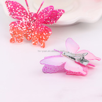 Glitter butterfly shaped hair claw accesories hair clips for kids