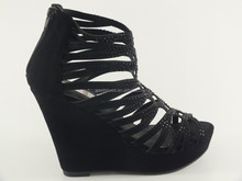 2013 stylish high heel wedge shoes for women