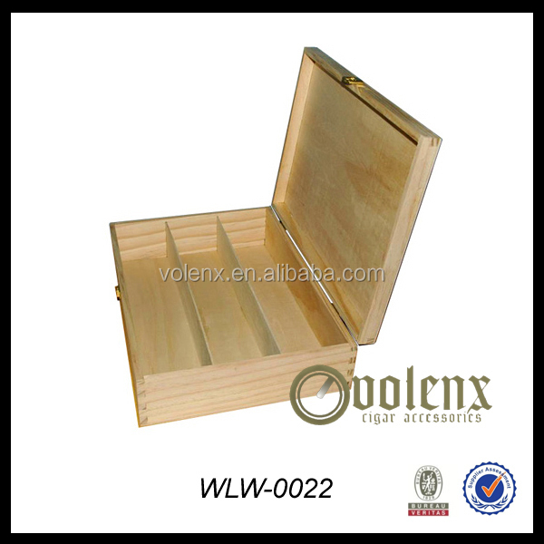 Unfinished Wholesale Pine Wooden Boxes With Lid