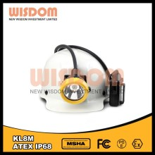 LED rechargeable work light superbright cordless mining cap lamp 16000LUX KL8M headlamp(WISDOM)