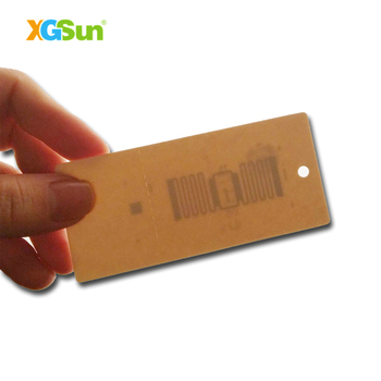 factory price passive Impinj mr6 rfid clothing hang tag