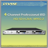 Digital TV 4 Channel Professional IRD MPEG-2 H.264 HD Decoder Decrypt RF TO HDMI Cable ASI RF to AV RJ45 Converter