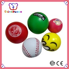 ICTI Factory logo branded customized funny pu stress ball