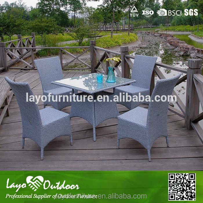 ISO9001 certification leisure relaxing furniture tile top patio dining table