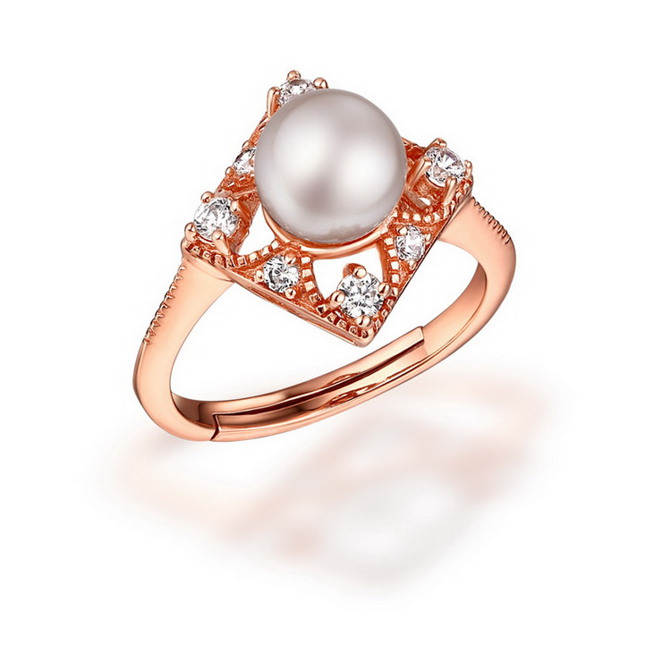 2017 New Design Pearl Finger Sterling Pearl Ring For Women