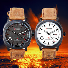 High quality curren men military watches top brand luxury with japan movement relojes hombre