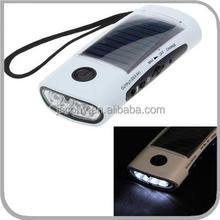 solar torch with radio cell phone charger 4 LED (JL-9517)