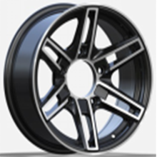 black machine sport rims with negative offset