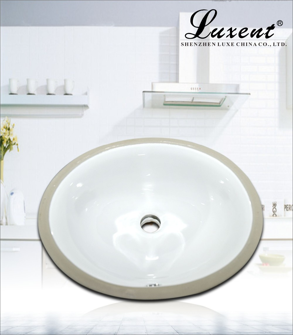 Low price ceramic enlongated 16 under wash basin white for Wash basin mirror price