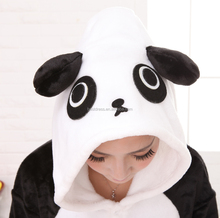 Pyjamas women Panda Onesie for adults sleep lounge pajamas Panda sleepwear Flannel Animal pajamas one piece