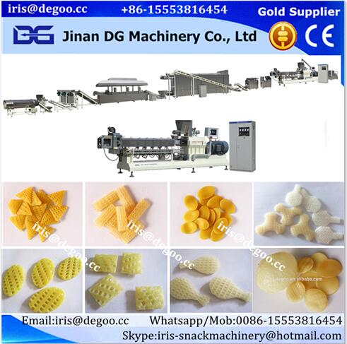 Continuous Fried Pellet Chips Pasta Plant processing machine making extruder plant