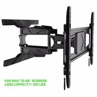 Aluminum 32-88 inch Full-motion Curved and Flat Panel TV wall Mount Holder