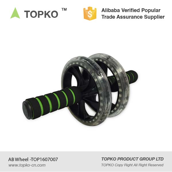 TOPKO Core Strength AB Roller Exercise Workout Double AB Wheel