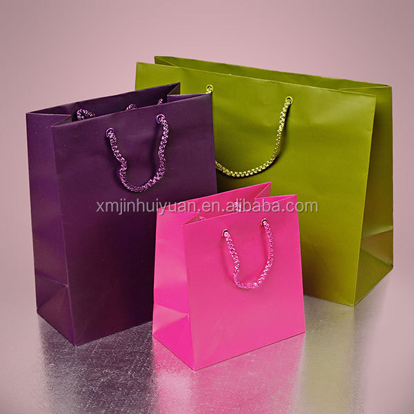 Solid Color Paper Shopping Bag & Shopping Paper Bag