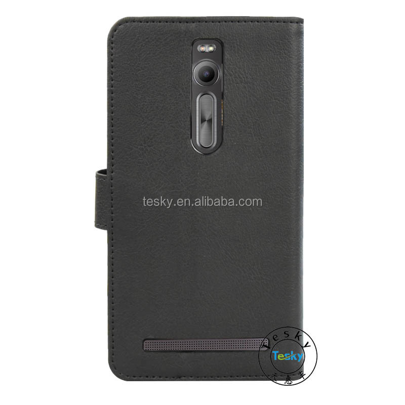For Asus Zenfone 2 ZE551ML Case , NoteBook Flip Leather Wallet Cover Case For Asus Zenfone 2 ZE551ML Case Black