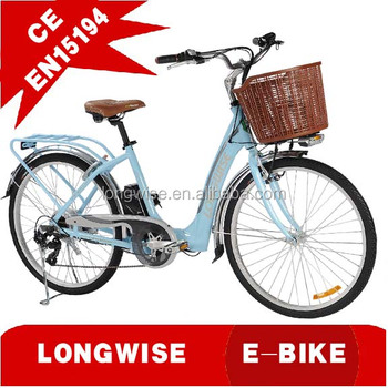 "26"" Electric City Bikes for female with EN 15194"