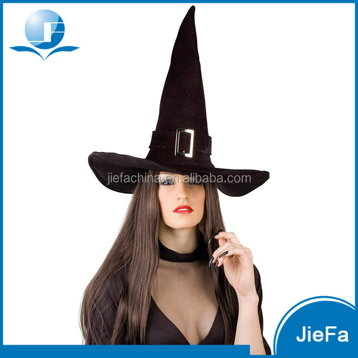 Wholesale Felt Cone Black Halloween Sexy Witch Hat