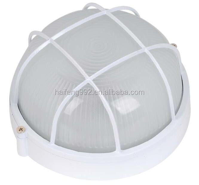 white color aluminum grille bulkhead light for outdoor