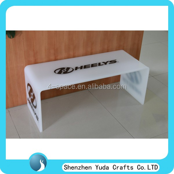 Customized Acrylic Vanity Table Bedside Table U Shaped Lucite Sofa Table