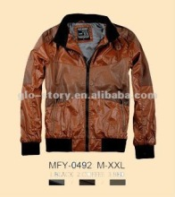 glo-story leather king varsity jacket with leather sleeves