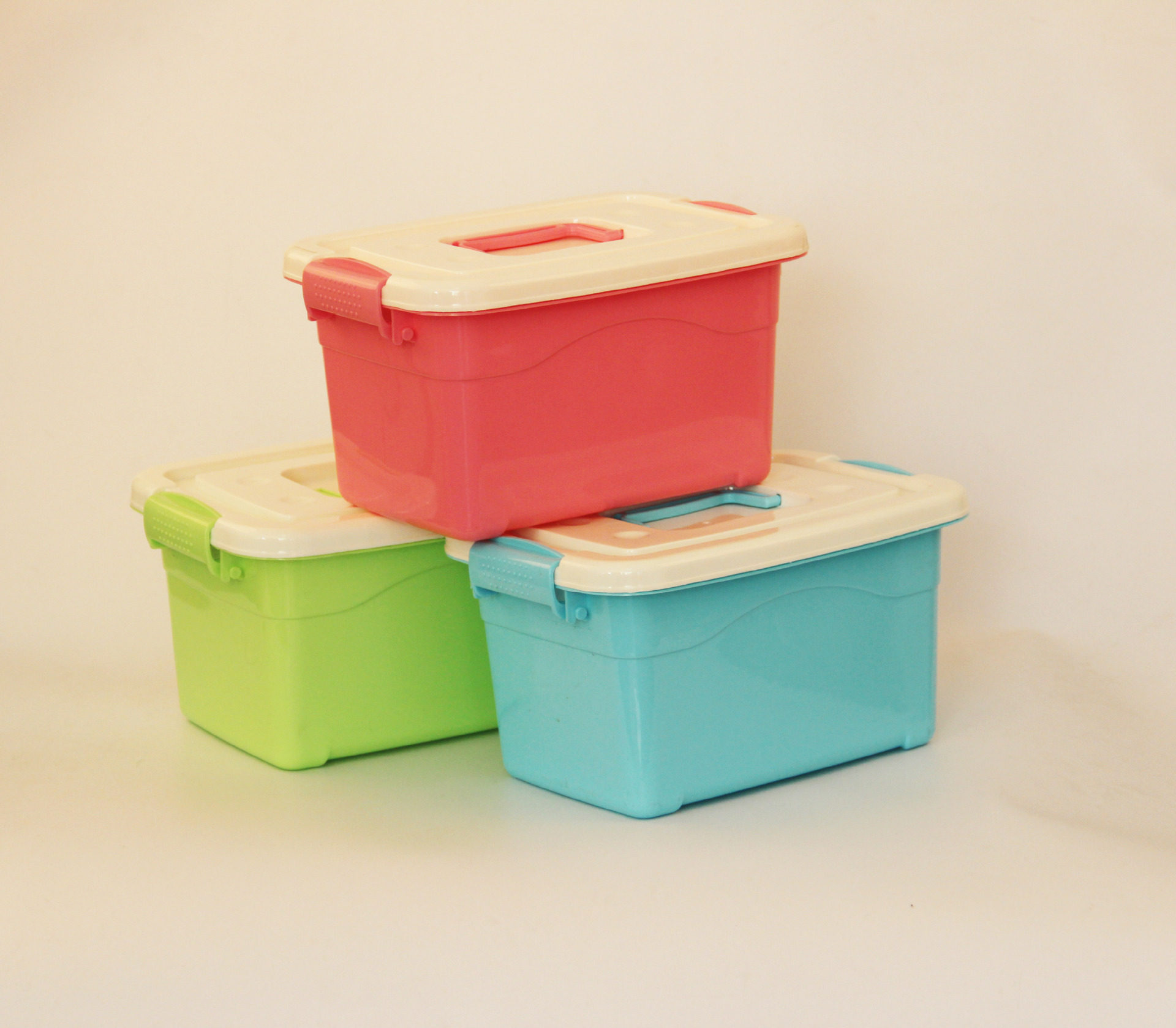 6L storage container with handle/plastic storage box small box with handle