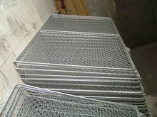 construction fence barrier/interlocking barricade panels / event fence barricade /tubular road bar barrier