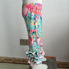 CZ-017 child in leggings ruffle flamingo sew sassy icing pant for children pants down