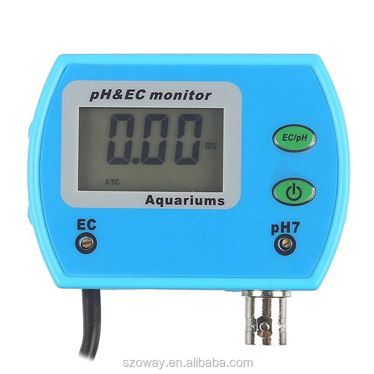 PH EC monitor correction ph meter in aquariums