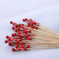 disposable cheap colorful bamboo bead skewers