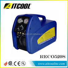 portable refrigerant recovery and recycling machine/unit RECO520S with oil separator twin piston style