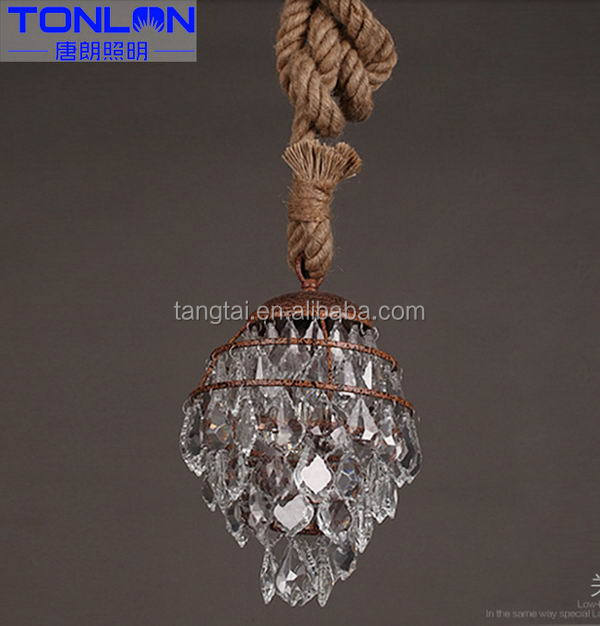 China supplier manufacture competitive crystal chain ceiling lamp