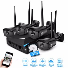 JOOAN Wireless Security Camera System 4 Channel Video Recorder CCTV NVR 960p Wifi Outdoor Network IP Cameras kits