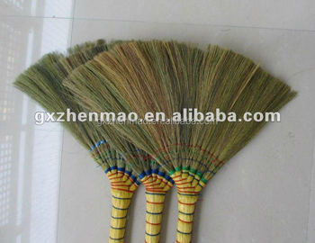 Natural chinese silver craft grass broom straw buy broom for Straw brooms for crafts