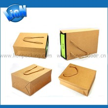 Factory supply kraft paper bag Christmas wine gift packing paper bag
