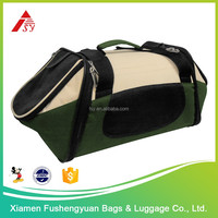 High Quality Factory Price 600D polyester causal soft sided pet carrier / pet cage