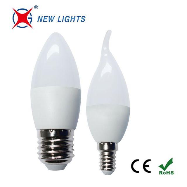 Hot C37 3w 4w 5w 6w E14 E27 cool white led candle bulb