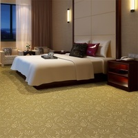 Noiseless Floral Wall To Wall Carpet For Luxury Hotel