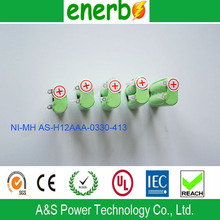 NI-MH H12AAA 0330 Rechargeable Battery Pack 2.4V 330mAh Hot Sale