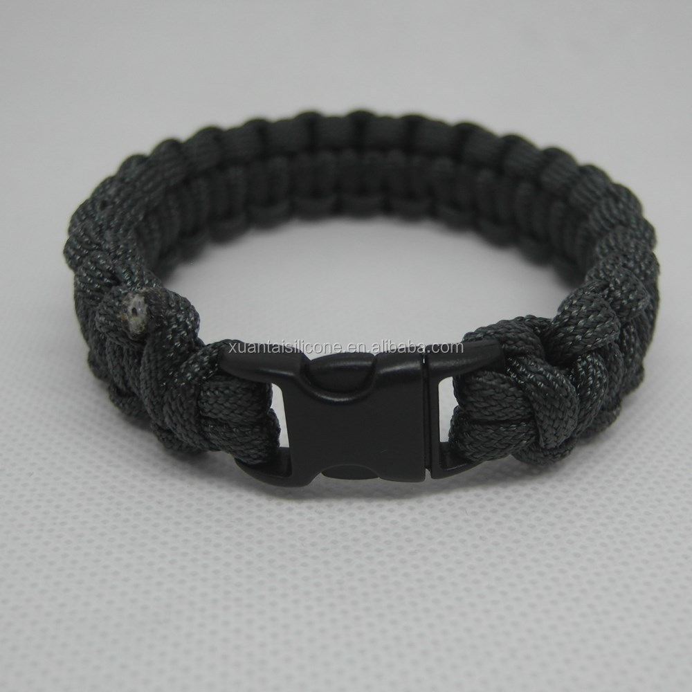 "retail and mixed batch Survival Paracord Bracelet 9"" Grey fast shipping in stock"