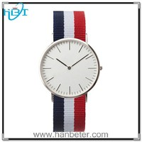 2015 hot sale fashion nylon strap logo custom paidu stainless steel watch