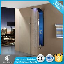 Top Sale Massage 304 Stainless Steel Rainfall Led Shower Panels