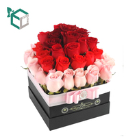 2017 New Custom Print Colorful Cone Rose Box Simple Flower Cone Paper Box