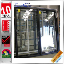 Australian standards AS2047 AS2208 AS1288 double glass commercial decorative sliding door grills