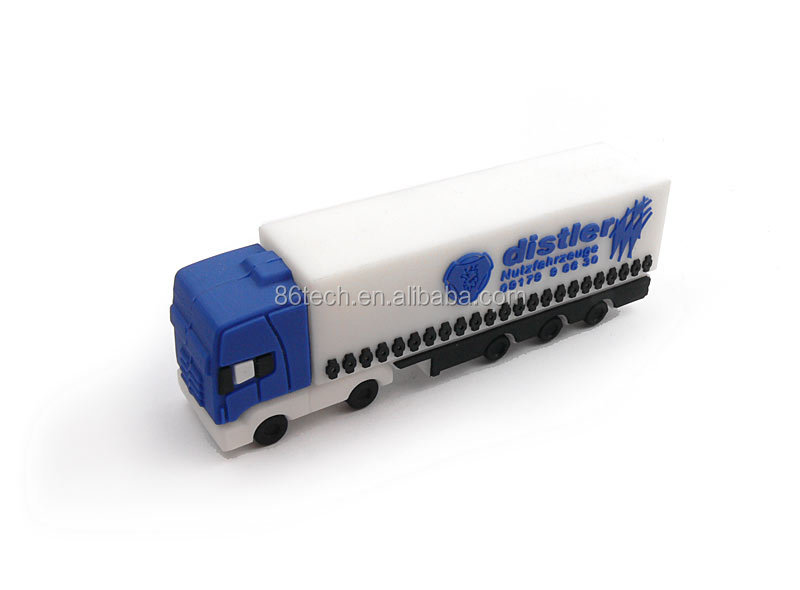 Promotion Gift PVC cartoon usb 2.0 truck shape usb flash drives