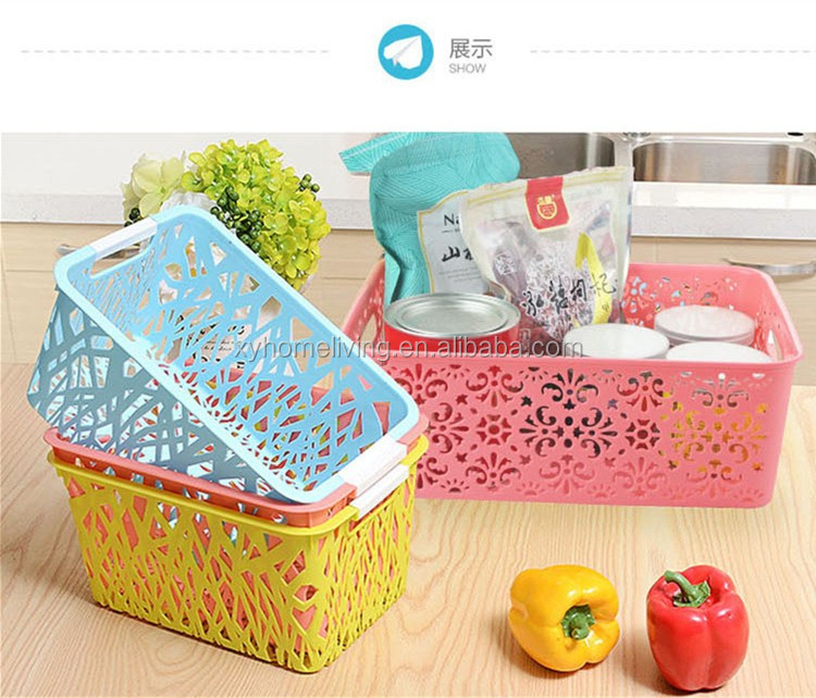 Small Plastic Fruit Storage Bird's Nest Baskets With Handle