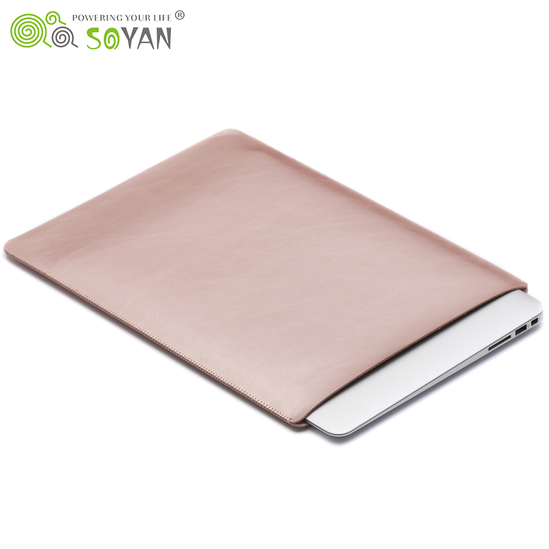 For Macbook Air 13 case Laptop Leather Sleeve Simple Style Microfiber Protective Bag For Macbook Air Pro 11 12 13 15 inch covers