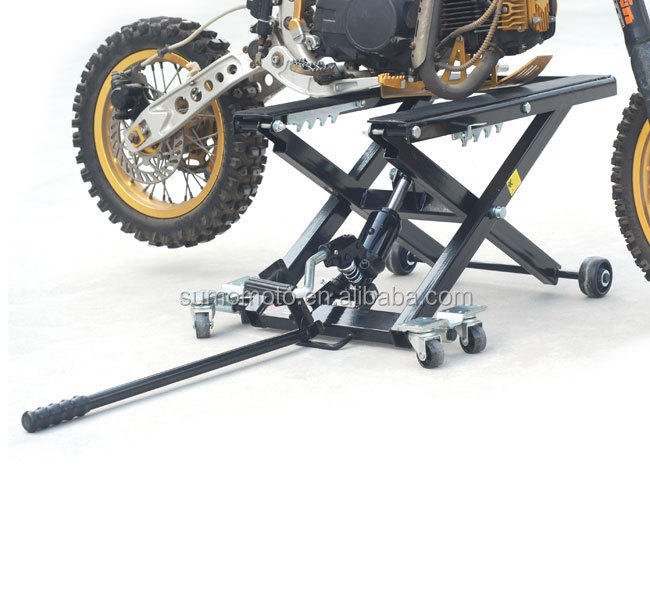 Motorcycle Scissor Motocross Dirt Bike Lift Stand 1000Lbs