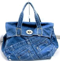 Denim Used Jumbo Bags Wholesale Type made from denim fabric