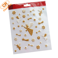 Eco-friendly Angel Design Puffy Glitter Sticker For Diary